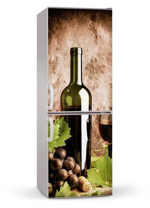 Naklejka Lub Mata Magnetyczna Na Lodówkę Czerwone Wino 00141